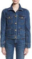 Co Puff-Shoulder Jean Jacket