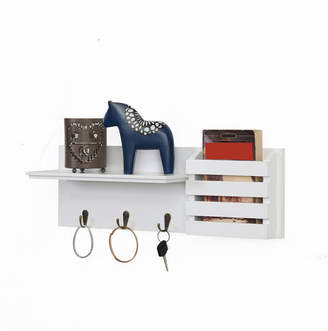 Danya B. Utility Shelf with Pocket and Hanging Hooks