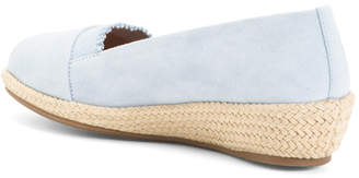 Comfort Suede Espadrille Demi Wedge Sandals