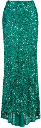 Alice + Olivia Charity Sequin Gown Skirt