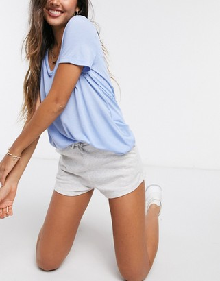 Stradivarius jersey short in grey