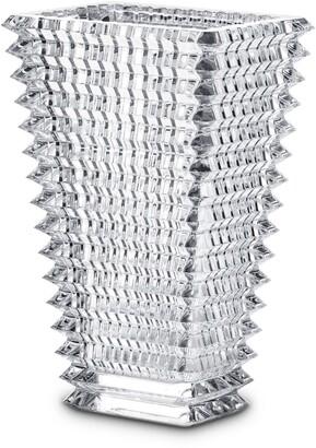 Baccarat Large Rectangular Eye Lead Crystal Vase