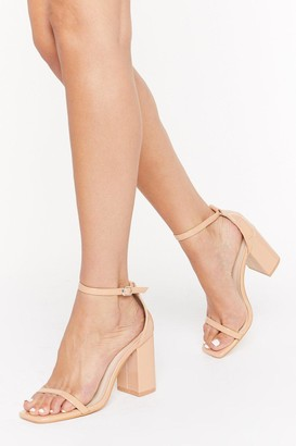 Nasty Gal Womens On the Floor Patent Faux Leather Block Heels - Nude