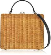 Rodo Flat Leather and Wicker Midollina Tote Bag