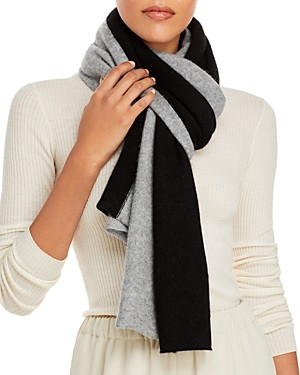 C by Bloomingdale's C by Bloomingdales Angelina Bicolor Cashmere Scarf - 100% Exclusive