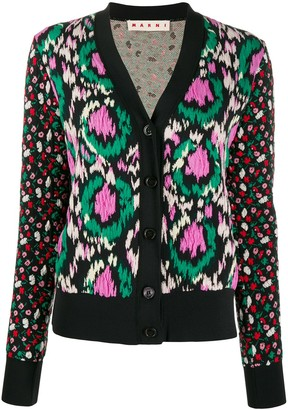Marni Floral Knitted Cardigan