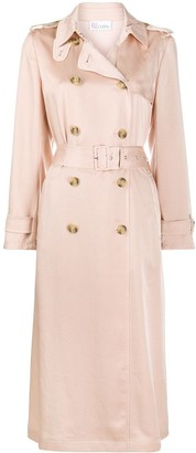 RED Valentino Satin Pleated Trench Coat