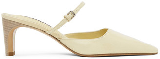 Jil Sander Yellow Mary Jane Heels