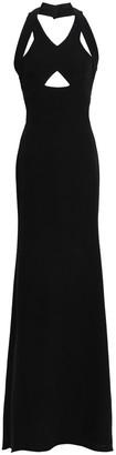 Victoria Beckham Cutout Wool And Silk-blend Gown