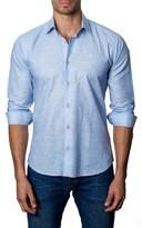 Jared Lang Men's Trim Fit Marled Sport Shirt