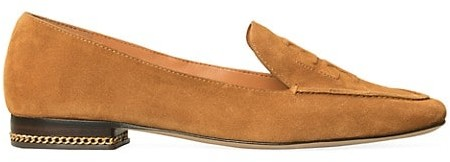 Tory Burch Ruby Square-Toe Suede Loafers - ShopStyle Flats