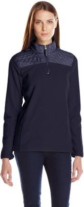 Caribbean Joe Women's Quarter Zip Fleece Pullover Jacket