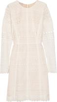 Oscar de la Renta Cotton blend-guipure lace dress