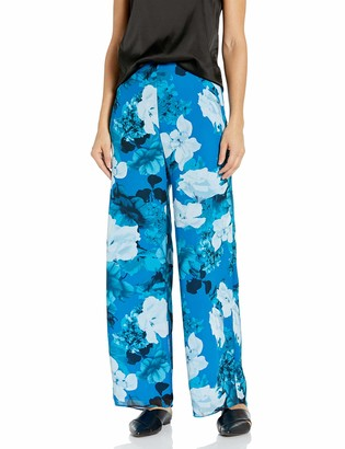 Vince Camuto Women's Watercolor Melody Floral Wide Leg Pant