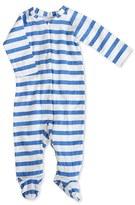 Aden Anais aden + anais Striped Long Sleeve Zipper One-Piece (Baby Boys)