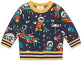 Gucci Baby jersey sweatshirt with space cats print
