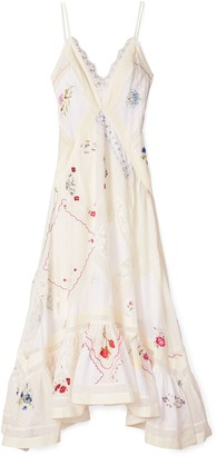 Tory Burch Handkerchief Embroidered Gown