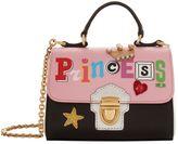 Dolce & Gabbana Leather Princess Motif Shoulder Bag