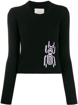 Frankie Morello jacquard beetle jumper