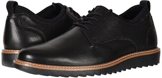 Dockers Elon Leather Smart Series Dress Casual Oxford (Black Burnished Oily Crazy Horse) Men's Lace up casual Shoes