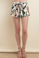 LLove USA Front Tie Floral Short