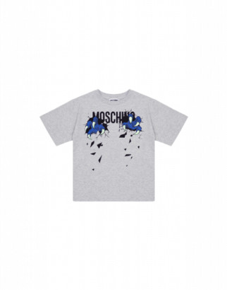 Moschino Monster Hands Maxi T-shirt Unisex Grey Size 4a It - (4y Us)