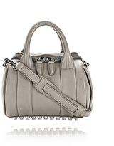 Alexander Wang Mini Rockie In Pebbled Oyster With Rhodium