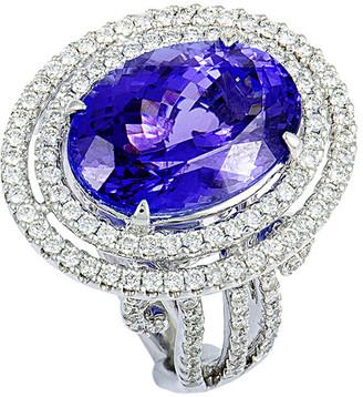 Heritage 18K 10.13 Ct. Tw. Diamond & Tanzanite Ring