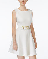 XOXO Juniors' Grommet-Detail Fit & Flare Dress
