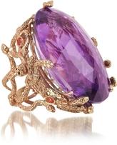 MeDusa Bernard Delettrez Rose Gold w/Dark Violet Amethyst Ring