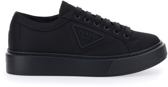 Prada Logo Lace Up Sneakers