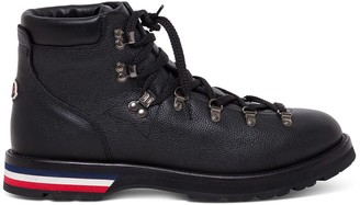 Moncler Leather Ankle Boots With Tricolor Sole