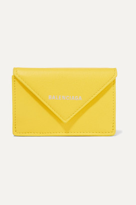 Balenciaga Paper Mini Printed Textured-leather Wallet - Yellow