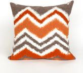 Liora Manné Visions III Zigzag Ikat 20-Inch x 20-Inch Throw Pillow in Orange