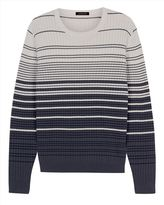 Cotton Waffle Stripe Sweater
