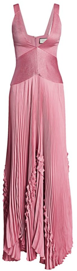 Alexis Bellona Pleated Fit & Flare Gown