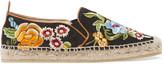 Etro Embroidered twill espadrilles