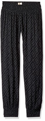 O'Neill Women's Night Flare Woven Pant with Smocked Waistband