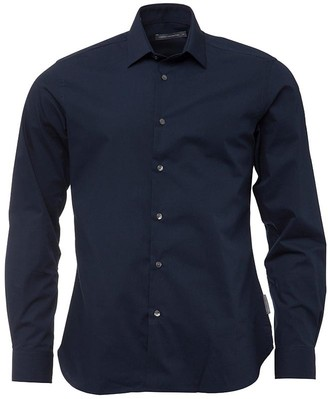 French Connection Mens Formal Plain Cut Shirt Marine