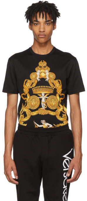 Versace Black and Gold Angels T-Shirt