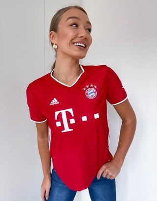 adidas Football Bayern Munich home jersey in red