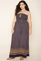 Forever 21 FOREVER 21+ Plus Size Abstract Maxi Dress