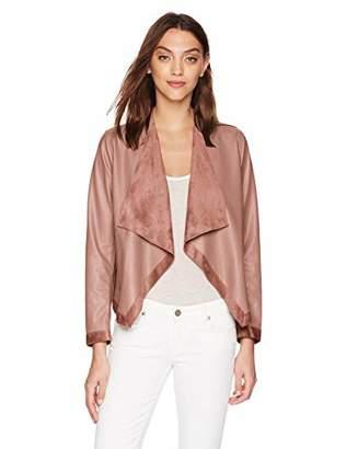 BB Dakota Women's Teagan Reversible Drape Front Jacket