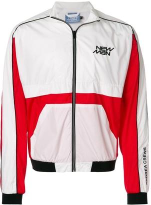 Andrea Crews colour block bomber jacket
