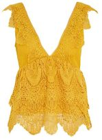 Tall plunge lace peplum top
