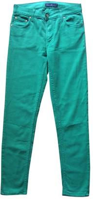 Carolina Herrera Green Cotton - elasthane Jeans for Women