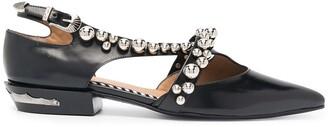 Toga Pulla Sphere-Embellished Ballerina Shoes