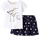 Kate Spade Sandpiper Tee and Skirt (Baby) - White/Polka Dot - 12 Months