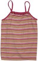 Kickee Pants Print Ruffle Tank (Toddler/Kid)-Island Stripe-3T