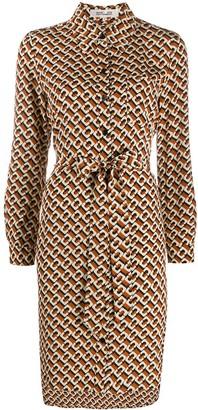 Diane von Furstenberg Chain-Print Shirt Dress
